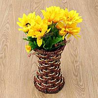 Искусственный ротанг квадратный цветок корзины сада домой венчания украшения подарка партии хранения ваза