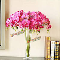 3 цвета искусственного бабочка цветок орхидеи цветы моделирования шелковые цветы домой свадьбы декора