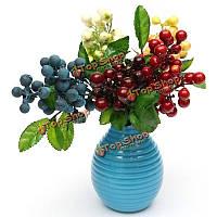 Искусственные цветочные цветы моделирования листа цветов ягоды домашнее художественное оформление ремесла стола