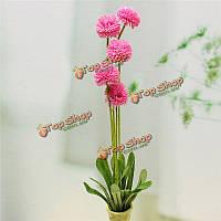 5 голов лаванды шарика искусственные шелковые цветы букет моделирования домашнего декора свадебного банкета подарок