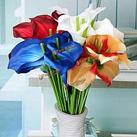 10шт искусственные каллы лилии свадебный букет свадебный домашнего декора цветы расположение подарка