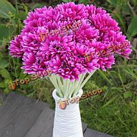 10шт луч искусственный цветок мама Гербер Дэйзи свадебный букет шелка свадьба цветы
