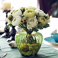 Искусственный шелк цветок пион букет 9 голов цветы домой кафе украшение свадебного декора свадьбу