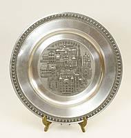 Настенная коллекционная тарелка, олово, Германия