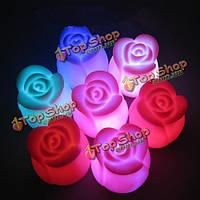Красочный LED лилии роза свет ночь свет лампы Валентина украшения венчания подарка партии