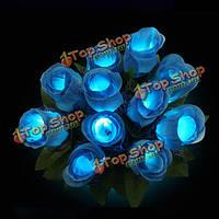 5шт красочный LED роза цветок мигающий светящийся украшение букета венчания vanlentine партии