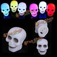 Красочные флеш LED череп ночник светильник участнику подарок украшения