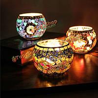 Мозаичные стеклянные канделябры держателя свечи подсвечника ручной работы домашний свадебный подарок обстановки