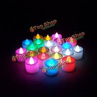 Свечи светодиодные разноцветные электронные на батарейках 7шт