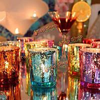 Красочная стеклянная чашка подсвечник подсвечник канделябр романтический свадебный подарок домашний декор