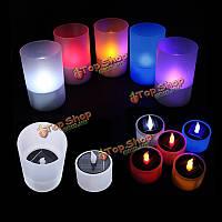 Электронные приведенный в действие светильник ночник солнечный LED свечах партии декор