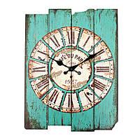 ZAKKA старинных деревенский деревянный настенные часы потертый дом номер кафе-бар декор стен синий