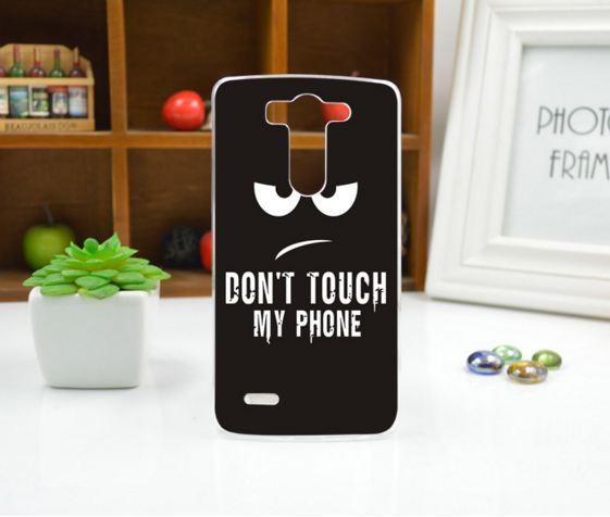 Силиконовый чехол накладка для LG G3s Optimus G3mini D722 D725 с рисунком Не трогать