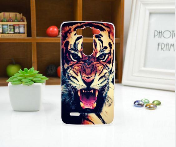 Силиконовый чехол накладка для LG G3s Optimus G3mini D722 D725 с рисунком Тигр