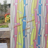 2m тиснением текстурированные матовое пятно стекло статическое окно пленка ПВХ стикер конфиденциальности домашнего декора окна