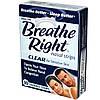 Breathe Right, Полоски для носа, маленькие/средние, 30 больших полосок