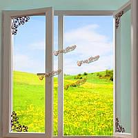 Витрина стекло окна зеркало заднего вида угол фон украшение отличительные знаки окна съемные стикеры