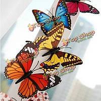 10шт 3D бабочки магнит на холодильник \ стены комнаты украшения-дюймов