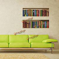 Книжный шкаф 3d езда решетки стены отличительные знаки PAG съемной сетки стены искусства наклейки домашнего декора подарок