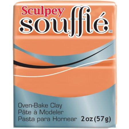 Новинка! Полимерная глина Sculpey Souffle Скалпи Суфле, тыквенный  6033