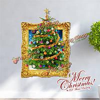 3-я рождественская елка представляет стенную этикетку переводных картинок этикетки Пага домашний стенной рождественский подарок обстано