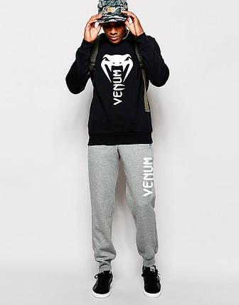 Мужской Спортивный костюм Venum чёрно - серый, фото 2