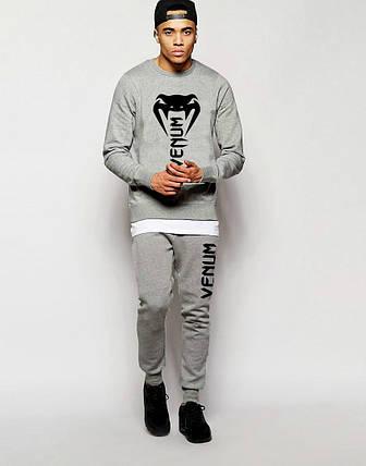 Мужской Спортивный костюм Venum серый (большой лого), фото 2