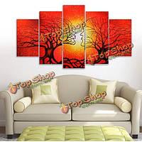 5шт бескаркасных холст напечатаны корень дерева украшения сочетание картины стены дома