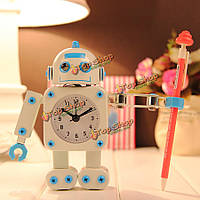 Робот будильник немой творческие часы клипы ключ домой декоративные часы игрушка ребенок подарок