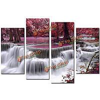Водопад сочетание холст печати картины напечатаны на холсте домой фоне декора стен