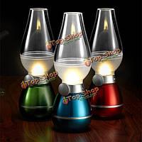 LED Дует керосиновая лампа ретро старинные затемнения лампы свет ночи домой декоративные огни подарок