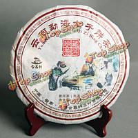 Пуэр чай 357g Yunnan мелко приготовленная пуэр oldes Menghai семь торты спелые Пуэр чай зеленый еда