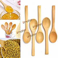 5шт деревянный набор ложка чайная ложка для приготовления пищи на кухне кофе  чай приправа посуды