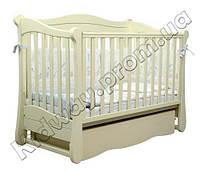 Кроватка Верес ЛД18 маятник/ящик слоновая кость