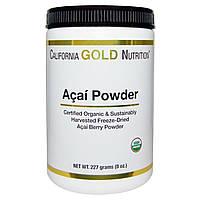 Органический порошок асаи, California Gold Nutrition, 230 гр.