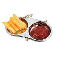 Приправа из нержавеющей стали уксуса соус блюдо ресторана Caidie банку принадлежности приправой блюда кухни
