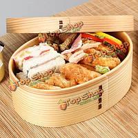 Японский стиль деревянный коробка обеда студент бенто коробка суши коробка