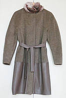 Пошив пальто ткань+кожзам(кожа)
