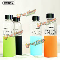 ReMax наслаждаться бутылку воды многоцветной творческий портативный 500мл Pyrex стекла Материал бутылки