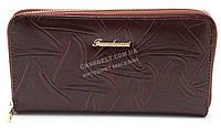 Женский удобный кошелек барсетка коричневого цвета FUERDANNI art.B7072
