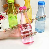 Бутылка воды пластиковые портативных герметичных спорта нерушимая 550 мл
