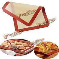 40x30см силиконовые выпечки мат из стекловолокна антипригарным выпечки Cake печенье хлеб коврик