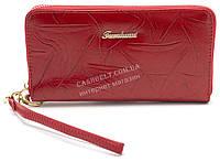 Женский удобный кошелек барсетка красного цвета FUERDANNI art.B7072