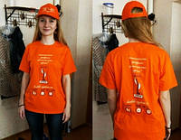 Нанесение логотипа на футболки и кепки, брендирование футболок