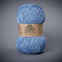 Пряжа хлопок 1200 ТМ Vivchari 015 голубой
