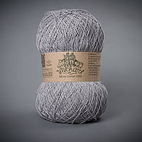 Пряжа хлопок 1200 ТМ Vivchari 017 серый