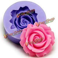 3D силиконовый молд роза фондант Cake украшение плесень