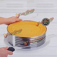 9-12-дюймов нержавеющий круг мусс Размер кольца регулируемый торта прессформы