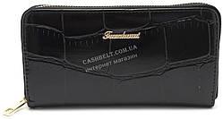 Женский удобный кошелек барсетка черного цвета FUERDANNI art.B7071