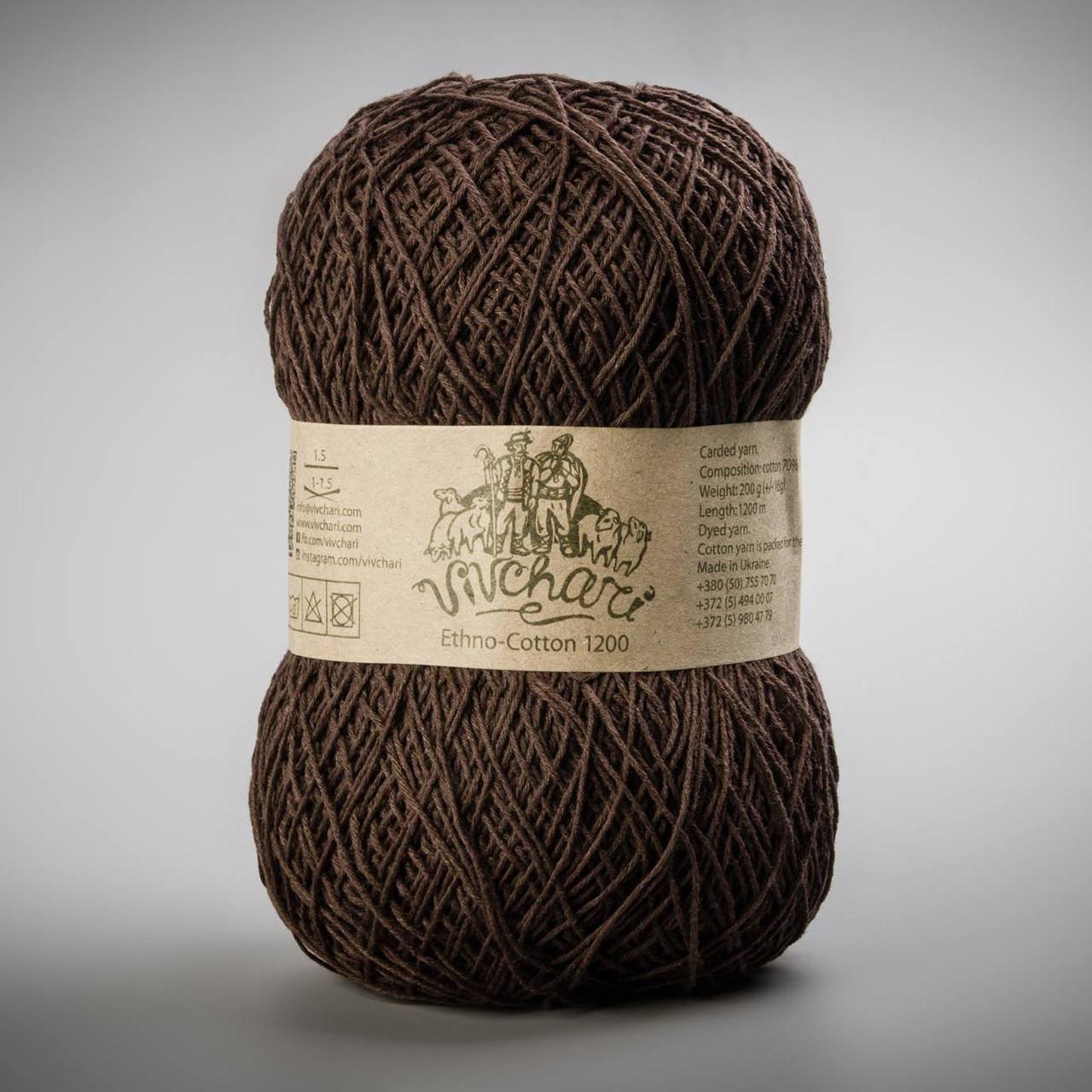Vivchari Ethno-Cotton 1200, цвет 025 шоколад